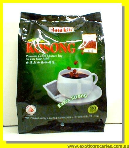 Kopi-O Kosong Premium Coffee Mixture 20 Bags Extra Strong (No Ca