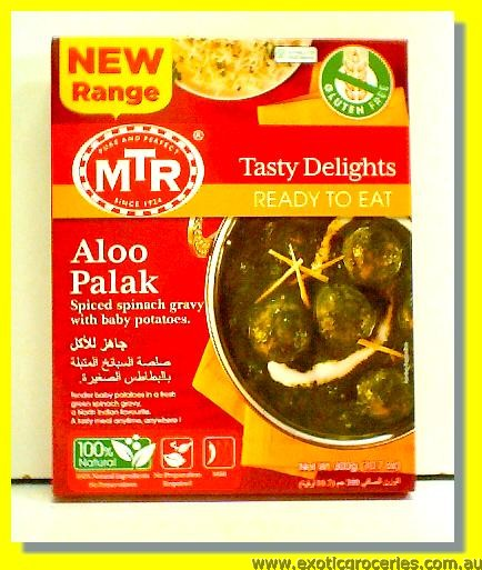 Ready to Eat Aloo Palak (Gluten Free)