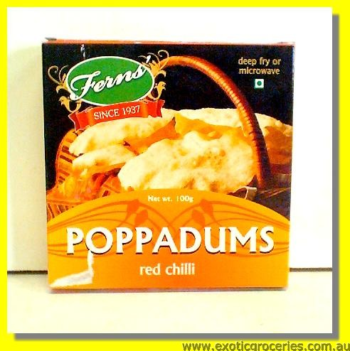 Red Chilli Pappadums
