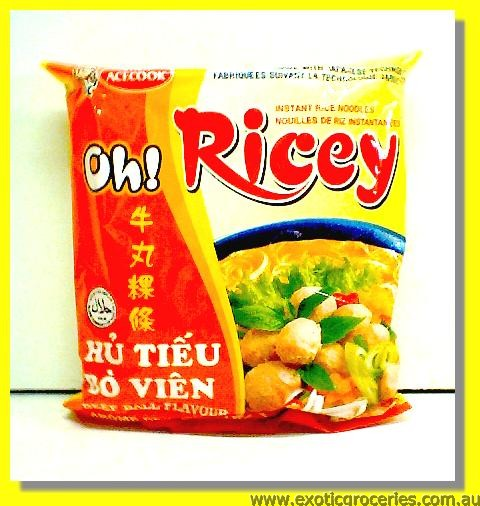 Oh Ricey Instant Rice Noodles Beef Ball Flavour