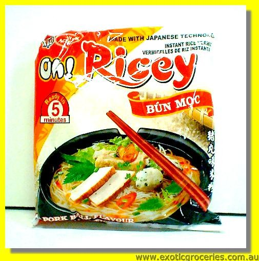 Oh Ricey Instant Rice Vermicelli Pork Ball Flavour