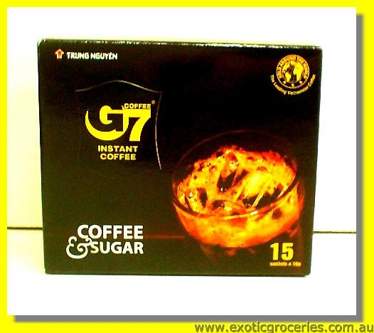 G7 Instant Coffee with Sugar 15sachets