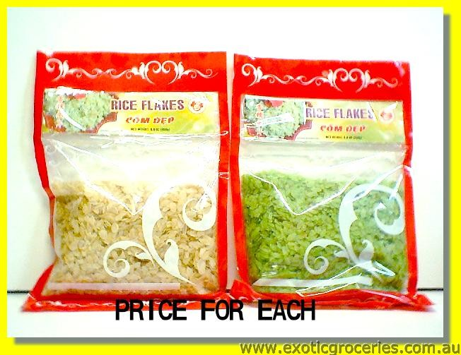Rice Flakes White/ Green
