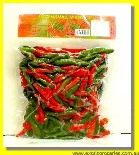 Frozen Small Mixed Chilli (Green & Red)
