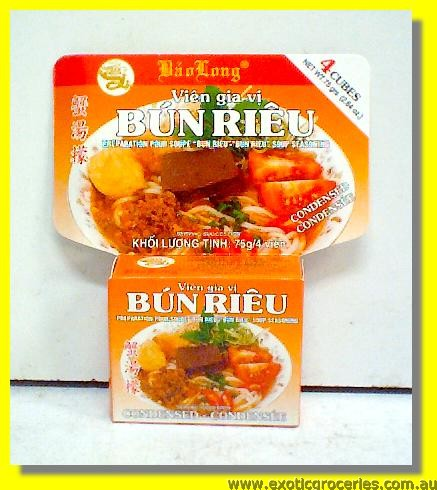 Bun Rieu Crab Flavour Soup Seasoning Cubes 4pcs