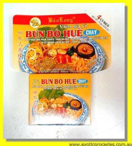 Vegetarian Bun Bo Hue Soup Seasoning 4cubes