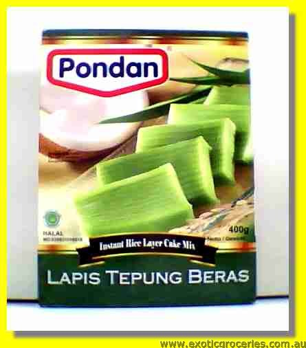 Instant Rice Layer Cake Mix (Lapis Tepung Beras)