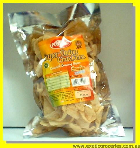 Super Onion Crackers Snacks (Kerupuk Bawang Super)