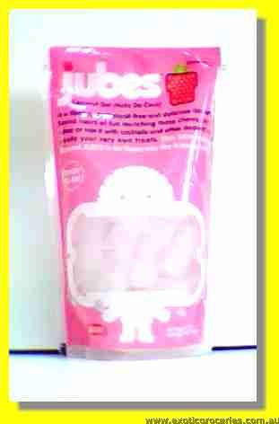 Nata De Coco Coconut Fibre Cubes (Strawberry Flavour)