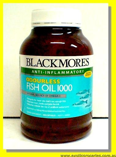 Odourless Fish Oil 1000mg (400 Capsules)