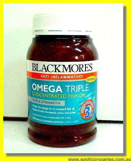 Omega Triple Concentrated Fish Oil 150capsules