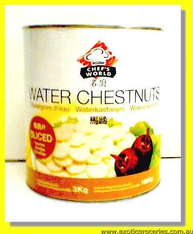 Water Chestnuts Sliced