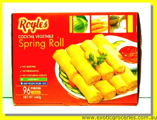 Frozen Cocktail Vegetable Spring Rolls 96pcs