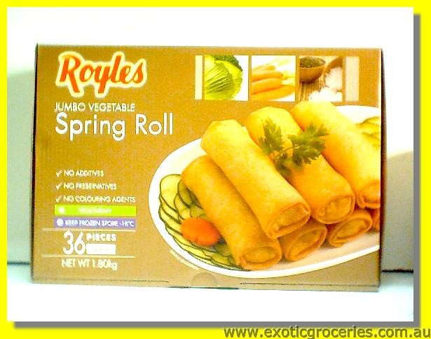 Frozen Jumbo Vegetable Spring Rolls 36pcs