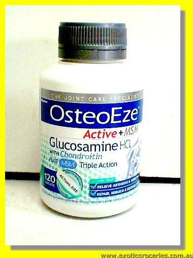 Osteo Eze Active + MSM Glucosamine HCL with Chondrotin 120 table
