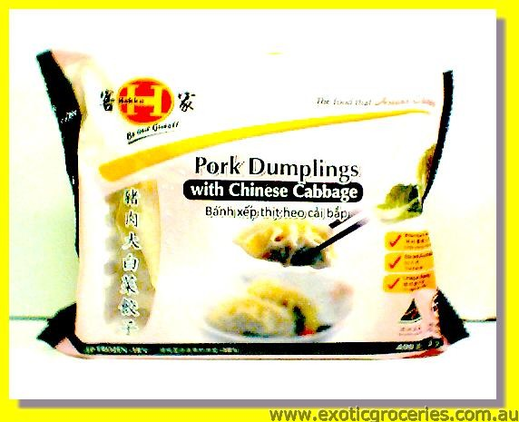 Pork Dumplings with Chinese Cabbage