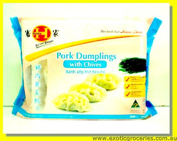 Pork Dumplings with Chives