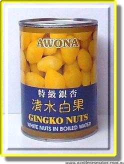 Gingko Nuts in Boiled Water