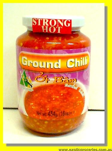 Strong Hot Ground Chilli (Sambal Oelek)