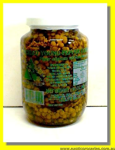 Pickled Young Green Pepper Corn