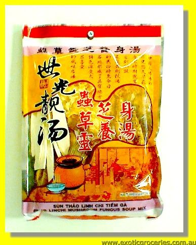 Dried Linchi Mushroom Fungus Soup Mix