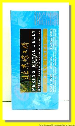Peking Royal Jelly Herbal Vitamin Liquid Complex Blue Label