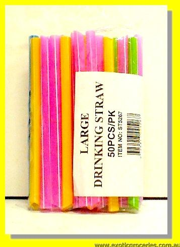 Large Drinking Straws 50pcs