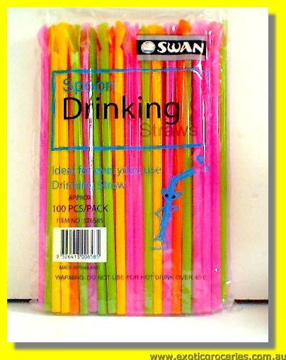 Spoon Drinking Straws 100pcs ST6585