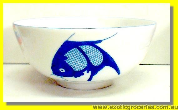 Blue Fish Bowl 9""
