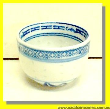 Rice Pattern Tea Cup 2.5""