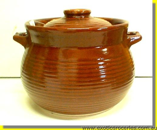 Brown Tall Clay Pot