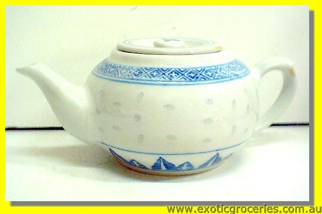 Rice Pattern Persimmon Teapot S #2