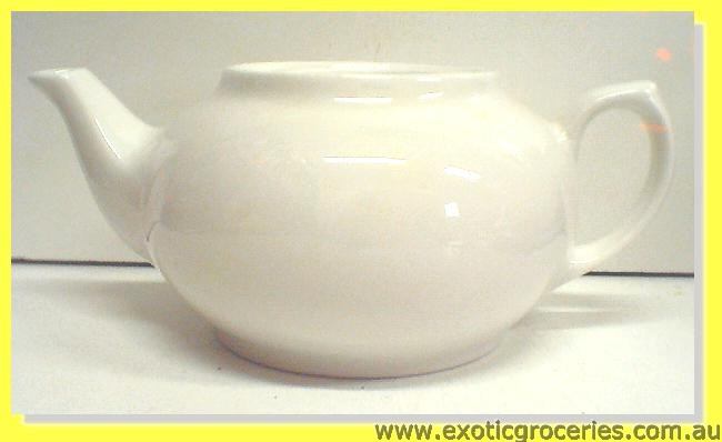 Cameo White Tea Pot