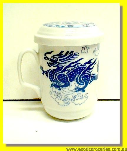 Blue Dragon Filter Mug with Lid