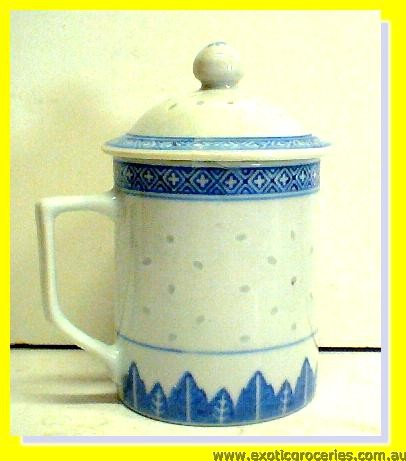 Rice Pattern Mug with Lid