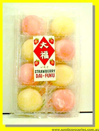 Strawberry & Cream Daifuku Mochi Rice Cake 8pcs