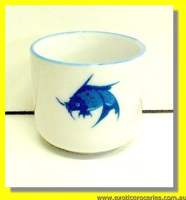 "Blue Fish Tea Cup 2.5"" JB"