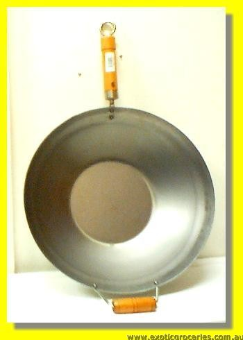 "13"" Machine Made Flat Bottom Wok"