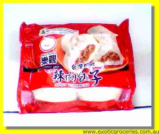 Frozen Spicy Pork Buns 4pcs