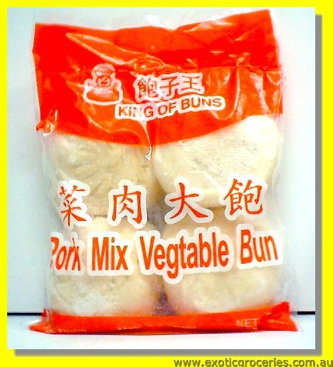 Frozen Pork Mix Vegetable Buns 4pcs