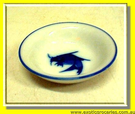 Blue Fish Saucer 2.75in.