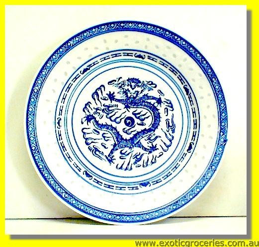 Rice Pattern Dragon Plate 10""