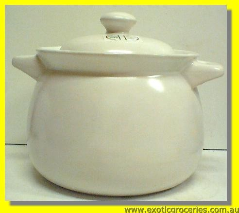 2 Handle Clay Pot White QT2015 24CM