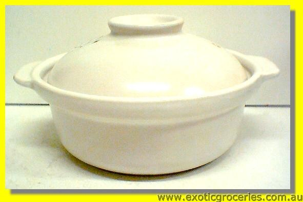 2 Handle White Clay Pot 21CM  QD1865