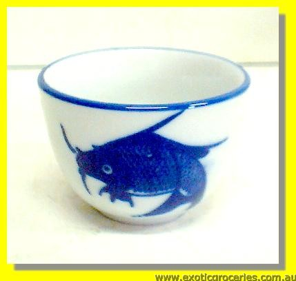 Blue Fish Tea Cup 2.75""