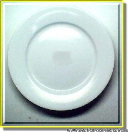 White Oval Plate 20cm
