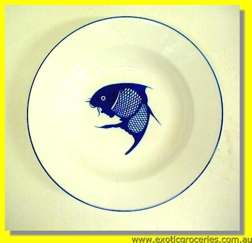 A Grade Blue Fish Deep Plate 25cm