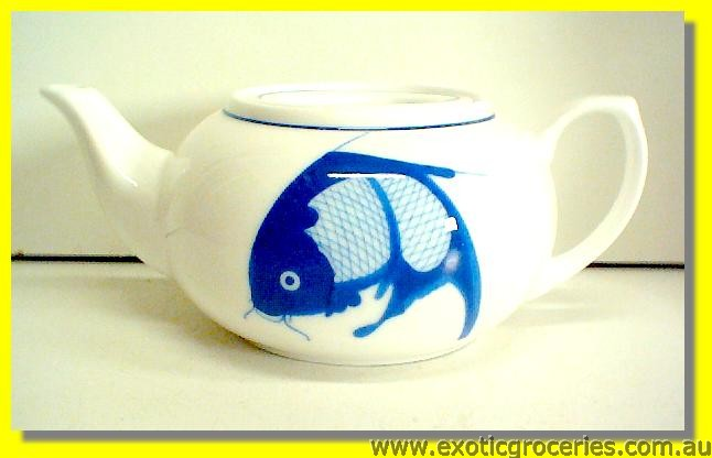 Blue Fish Teapot 13cm (C165-059/ TM059)