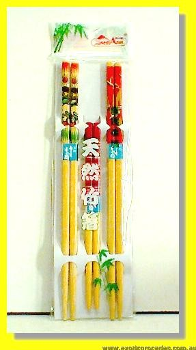 Bamboo Chopsticks 3pairs (for 2 Adults & 1 Kid)
