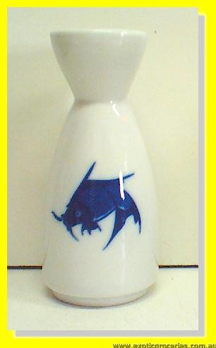 Blue Fish Sake Bottle